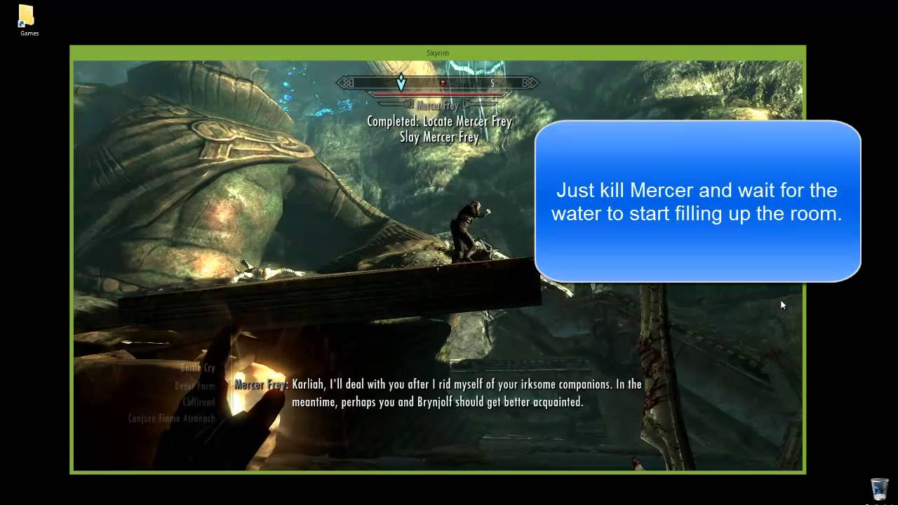 Skyrim Blindsighted Mercer Frey FIX (PC ONLY)