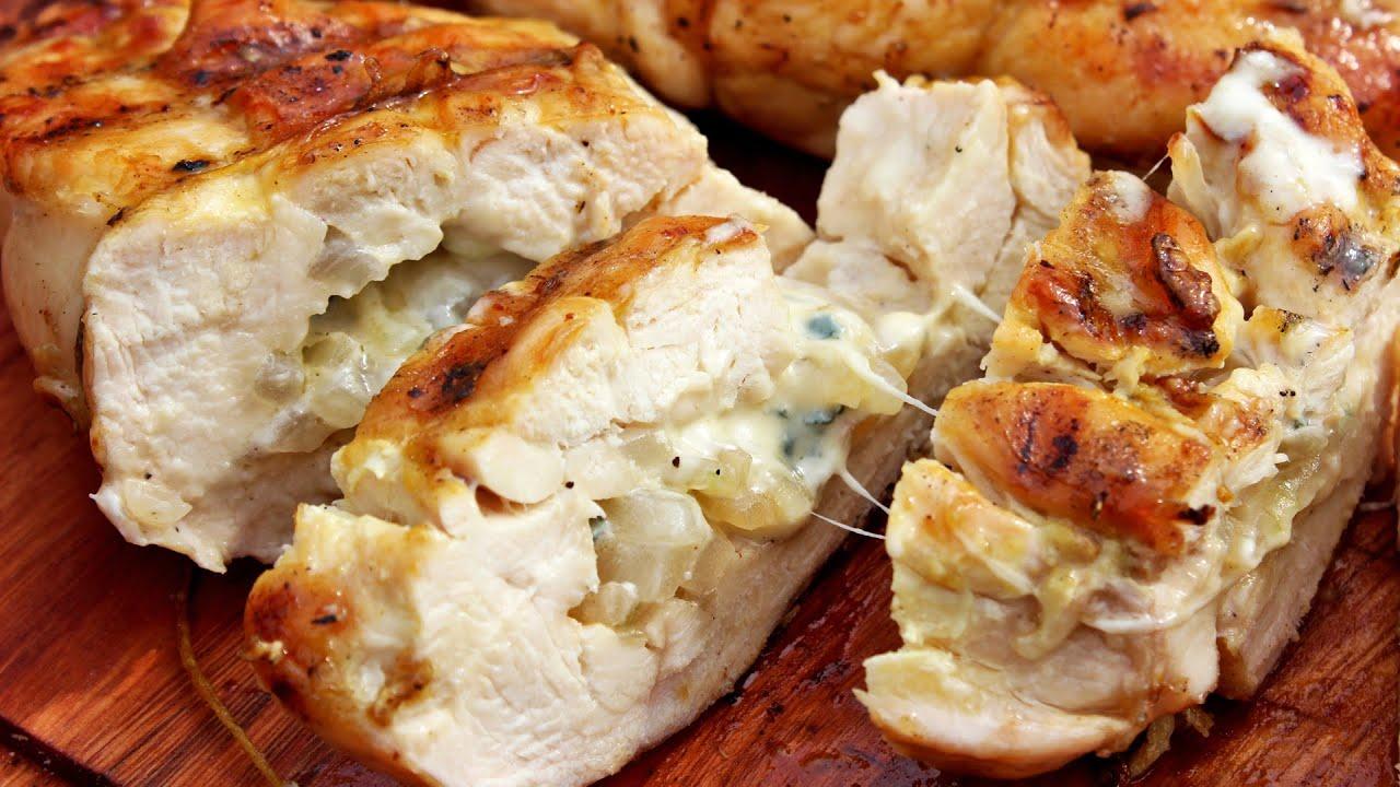 Como hacer supremas de pollo rellenas a la parrilla - Parrilla de la vanguardia ...