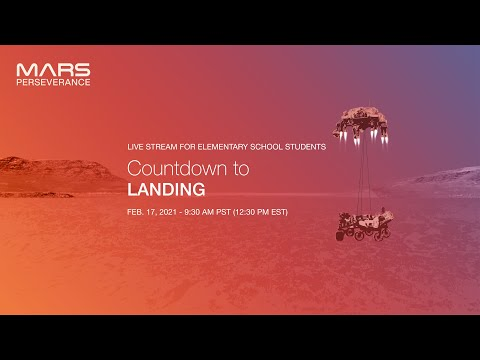 Countdown to Landing: Live Stream for Elementary School Students
