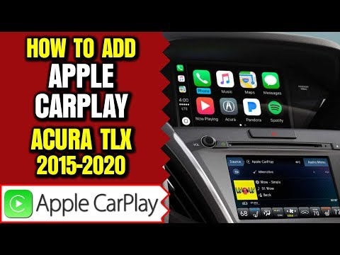 Acura TLX Apple Carplay Update - Add Apple CarPlay Android Auto To Acura TLX 2015-2020 HDMI Input