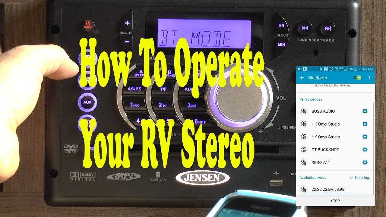 How To Use Your Rv Stereo Jensen Awm968 Youtube Wiring Diagram On Pinterest Travel Trailers Solar