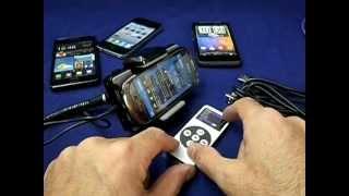 דיבורית לרכב אוניברסלית ל- HTC, GALAXY ו- BLACKBERY