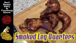 Smoked Chicken Leg Quarters   Rec Tec RT-300 Pellet Smoker