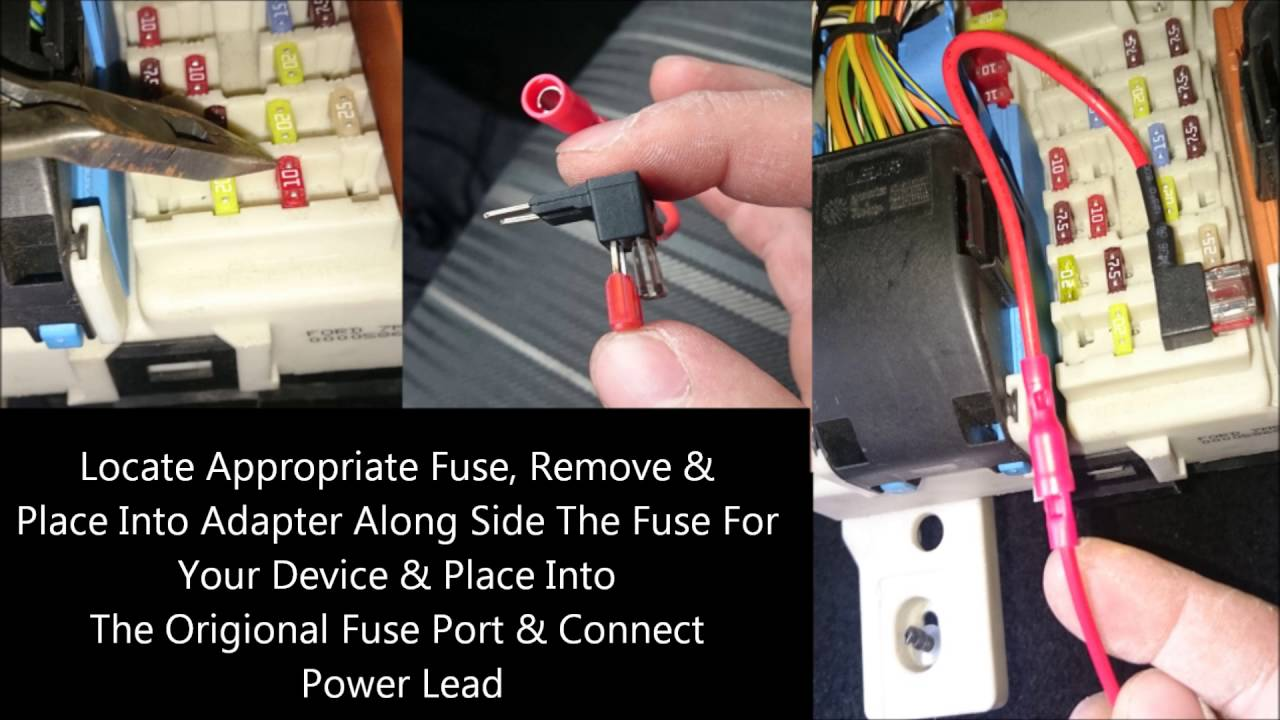 medium resolution of tapping the power from fuse box