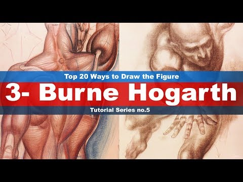 Top 20 Ways to Draw the Figure (3-Burne Hogarth) Tutorial series No.5 (Drawing from imagination)