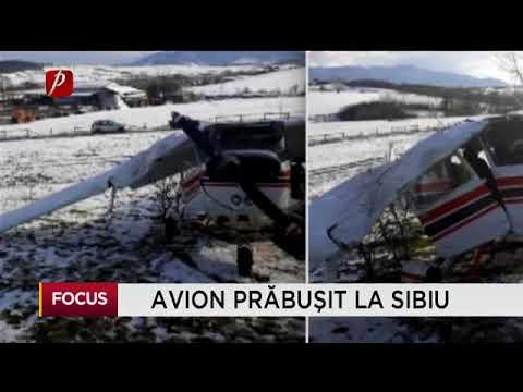Avion prăbușit la Sibiu