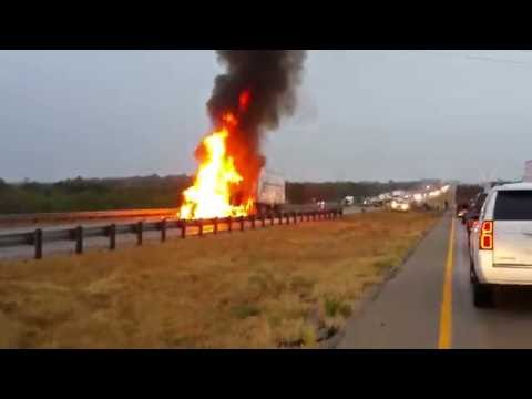 Truck Fire and pickup truck wreck. 8 Oct Sweetwater TX
