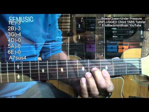 Chord TABS #2 Queen Under Pressure UNPLUGGED Acoustic Guitar ...