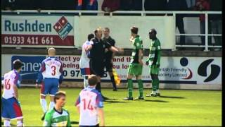 Rushden & Diamonds vs Yeovil Town FA Cup 06/11/2010