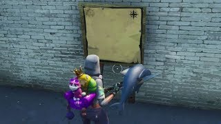 Fortnite Challenge: Search The Treasure Map Signpost And The X | Support A Creator Code: DertServc