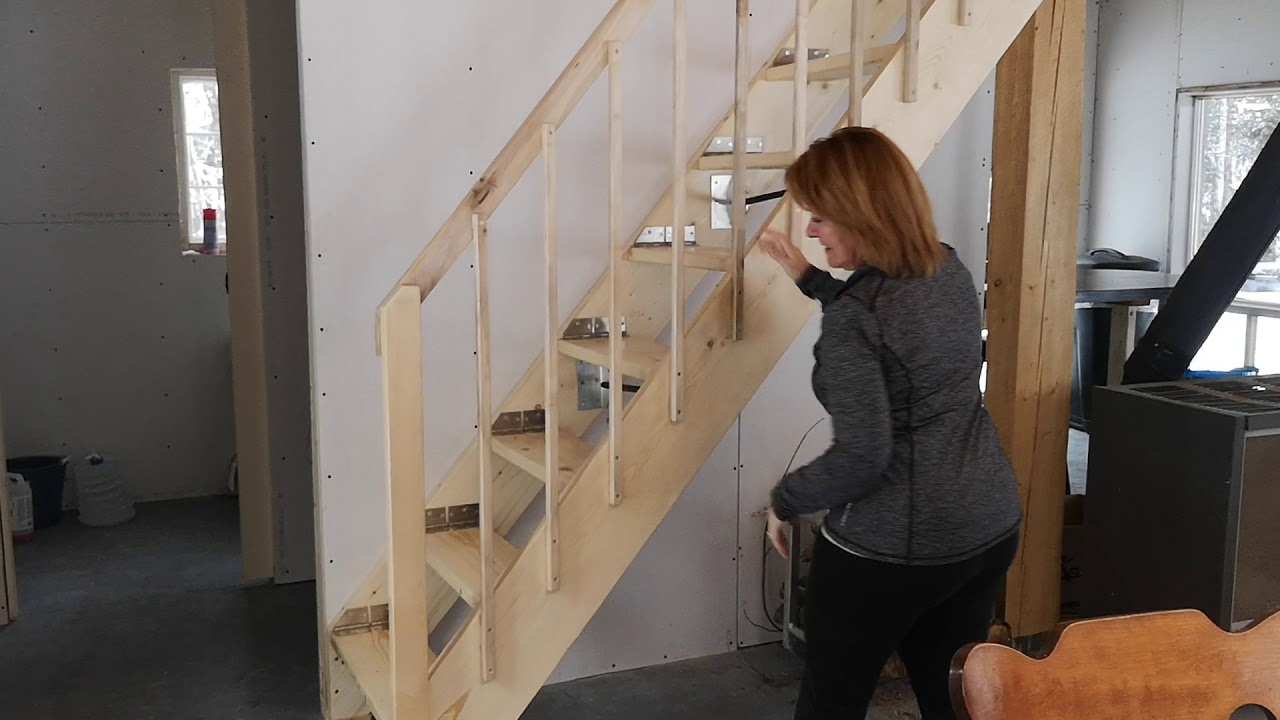 Folding Staircase Youtube   Folding Stairs With Handrails   Elderly   Hydraulic   Hand Rail   Aluminum   Interior
