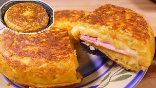 potato omelette SANDWICH style - Spanish omelette recipe
