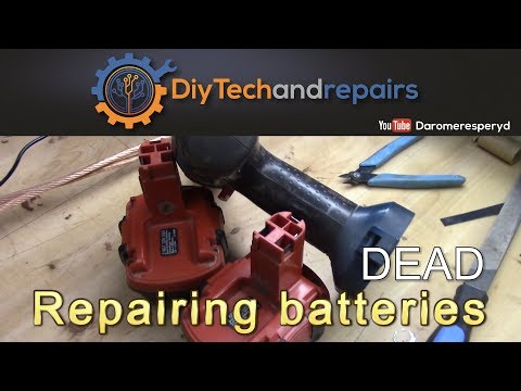 Repairing dead batteries on cordless drill