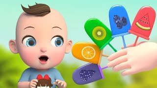 Learn Colors with Fruit ice cream | abc song nursery rhymes for babies | Super Lime And Toys