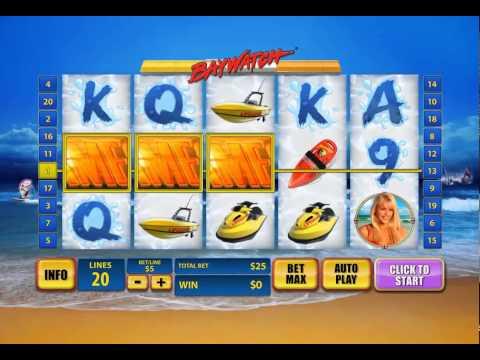 Baywatch Slot Gameplay