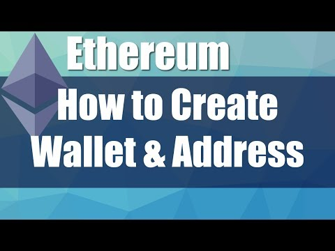 How To Create Ethereum Wallet Address And Send / Receive ETH