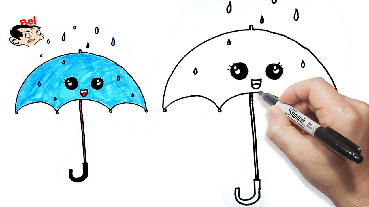 رسم مضلة بالخطوات رسم شمسية تعليم الرسم للاطفال Youtube