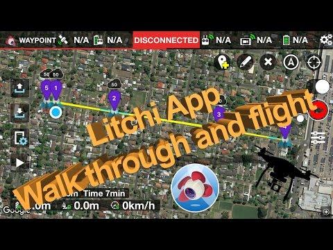 Litchi App up the Street DJI P3S