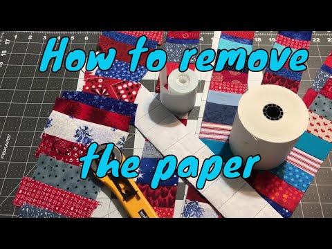 How to remove the papers from your fabric scraps calculator tape strips