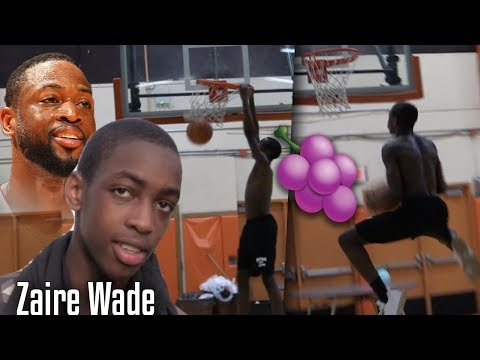 """D-Wade Son """"Zaire Wade"""" SHOWS OFF his DUNK Package!"""