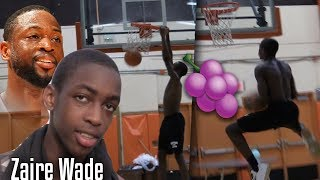 "D-Wade Son ""Zaire Wade"" SHOWS OFF his DUNK Package!"