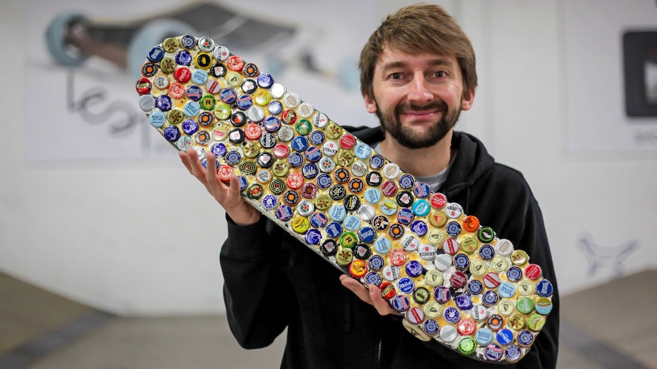 The Fallout 76 Bottle Cap Skateboard