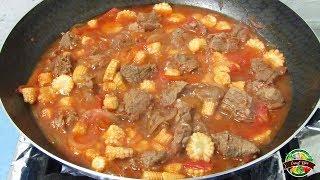 Carne Tapada con Chilote receta nicaraguense