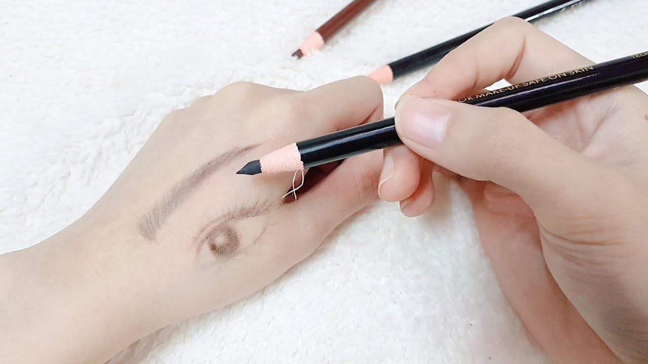 Cách vẽ lông mày giống thật nhất bằng chì xé ( Rẻ + Đẹp + Đơn Giản ) | Yêu Làm Đẹp