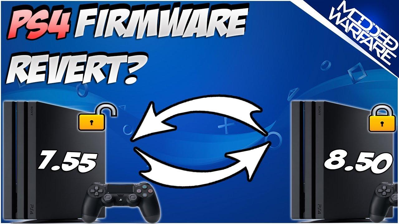 PS4 Firmware Revert Overview