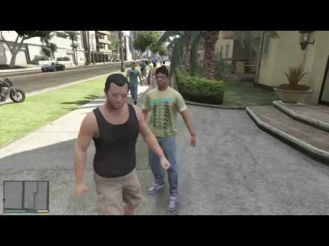 GTA 5 - Michael handles a bully