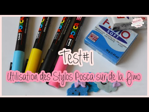 test 1 utilisation des stylos posca sur de la fimo misss v 02 youtube. Black Bedroom Furniture Sets. Home Design Ideas