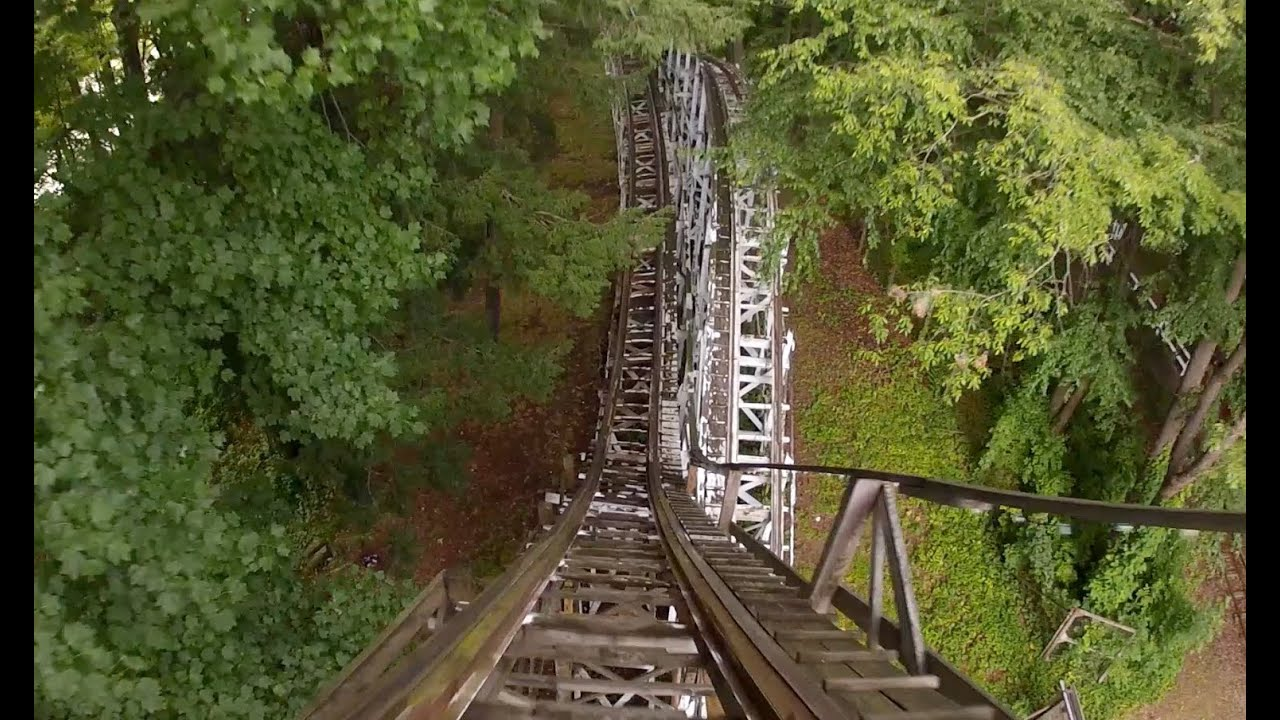 Blue Streak Roller Coaster Pov Conneaut Lake Park Wooden