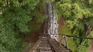 Blue Streak Roller Coaster Pov Conneaut Lake Park Wooden Rollercoaster On-ride