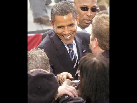 Highlights of Barack Obama's rally in Grand Rapids on Oct. 2