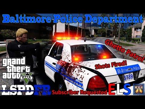 Baltimore Ghetto Patrol Shots Fired GTA 5 LSPDFR Episode 119