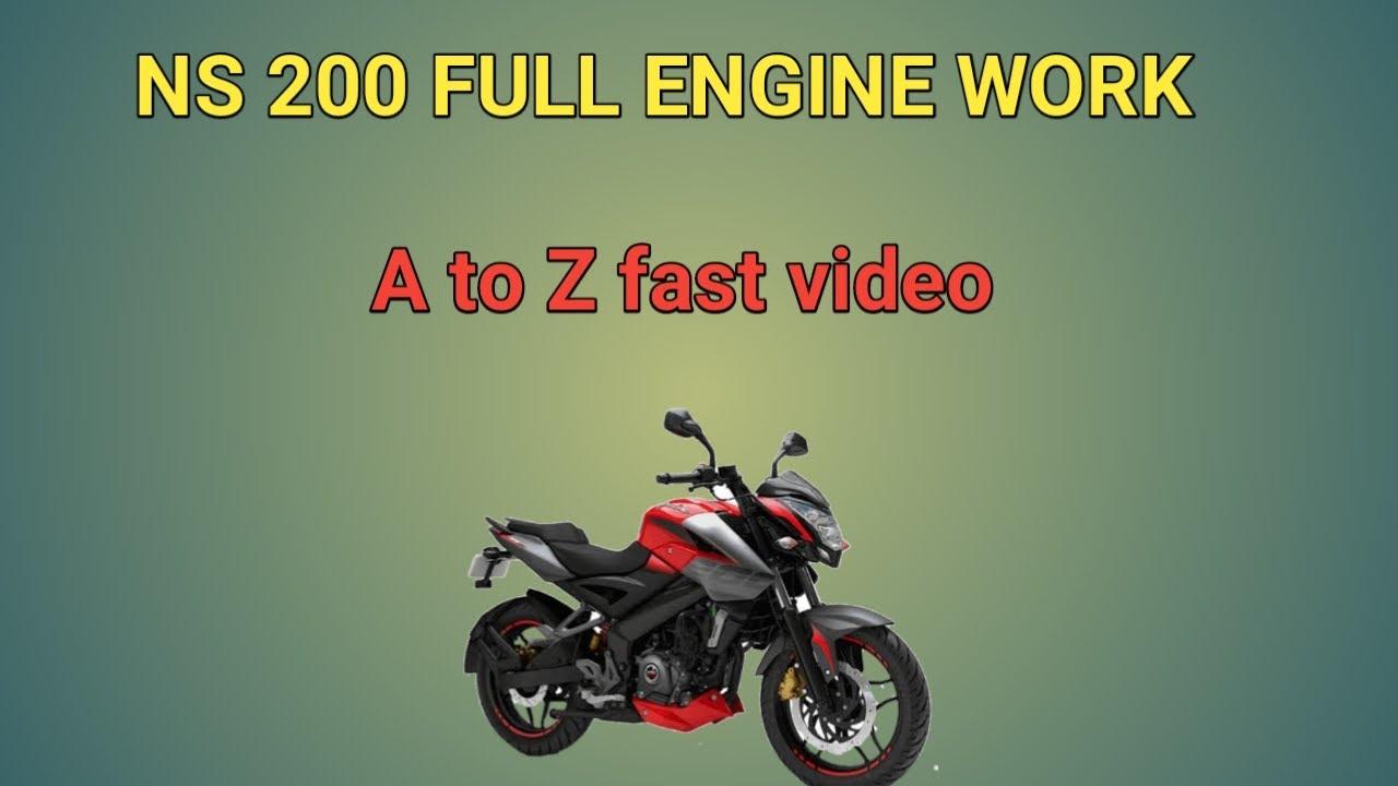 Bajaj NS200 full Engine service fast video...