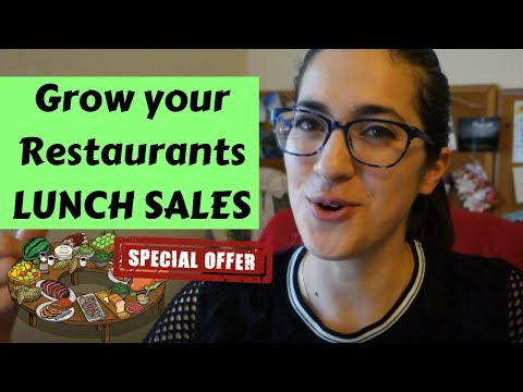 HOW TO INCREASE YOUR LUNCH SALES | Restaurant Marketing Ideas