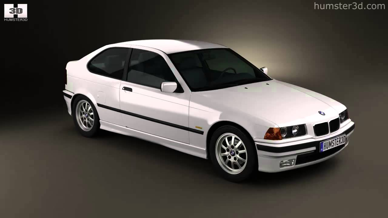 bmw 3 series e36 compact 1994 by 3d model store youtube. Black Bedroom Furniture Sets. Home Design Ideas