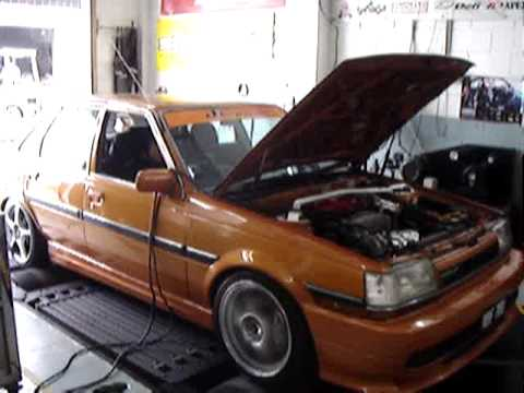 Toyota corona st150 with 3s ge beams on dyno youtube sciox Images