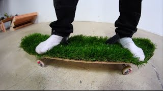 ARTIFICIAL GRASS BOARD WITH NO SHOES! | YOU M...