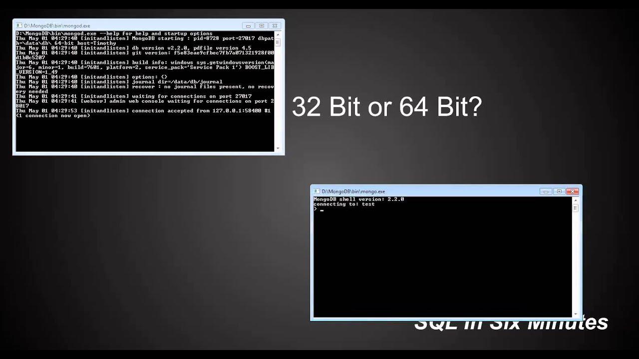 mongodb 32 bit