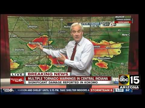 Kokomo, Indiana tornado damage - Severe Weather