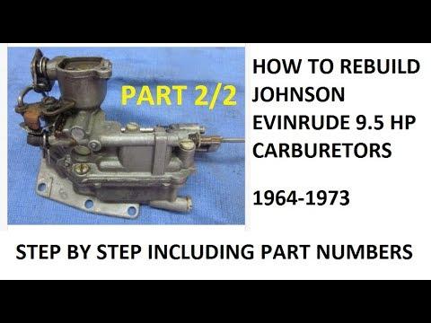9 5 Hp Johnson Evinrude Outboard Carburetor Rebuild