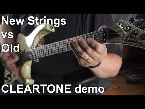 New Guitar Strings Vs Old - CLEARTONE Strings Demo