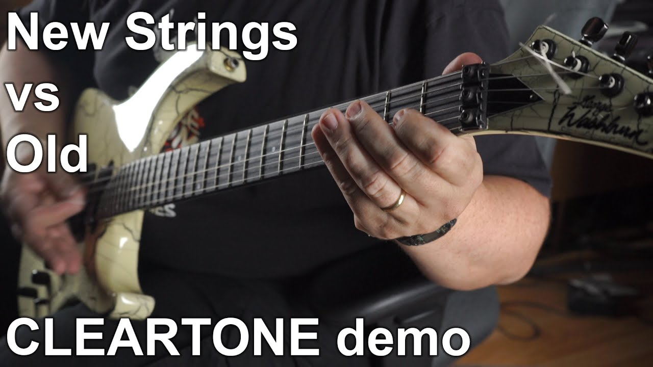 new guitar strings vs old cleartone strings demo youtube. Black Bedroom Furniture Sets. Home Design Ideas