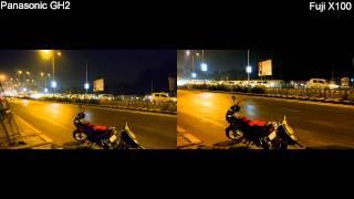 Fuji X100 vs  Panasonic GH2- Low light comparison test