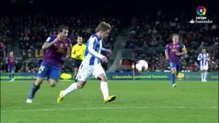 Resumen de FC Barcelona vs Real Sociedad (2-1) 2011/2012