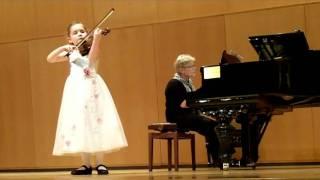 Alma Deutscher (aged 6) playing Seitz, violin voncerto no. 3 (Keshet Eilon, 2011).