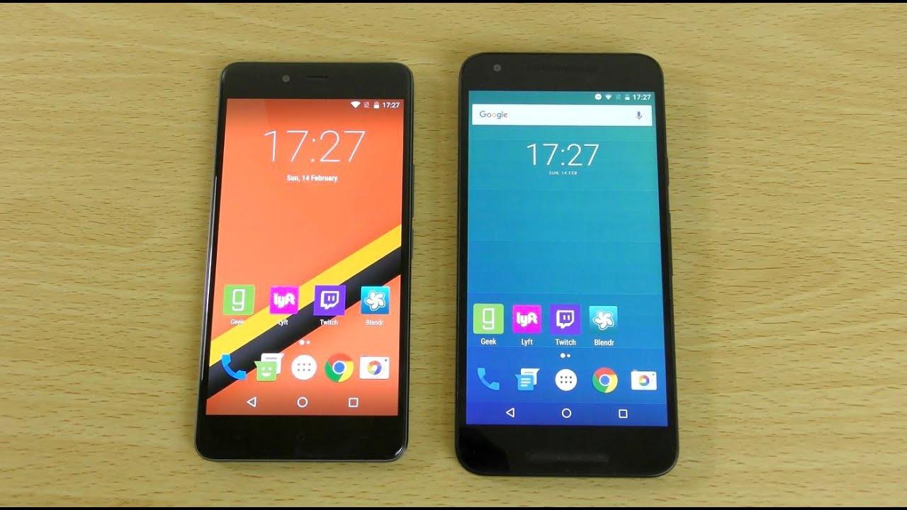 OnePlus X Android 6.0 Marshmallow VS Nexus 5X