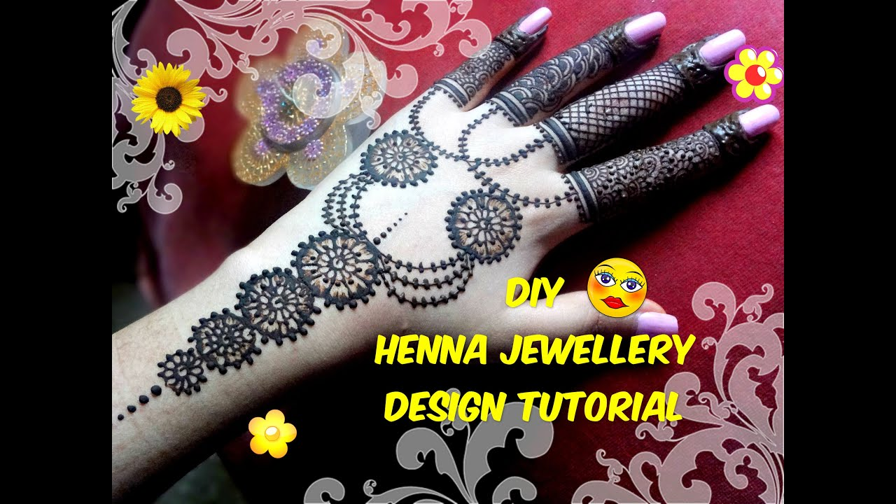 Latest mehndi designs 2016 2017 top 47 mehndi styles - Easy Diy Best And Beautiful Hand Jewellery Inspired Henna Mehndi Design Tutorial Youtube
